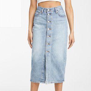 Levi's Buttoned denim midi skirt